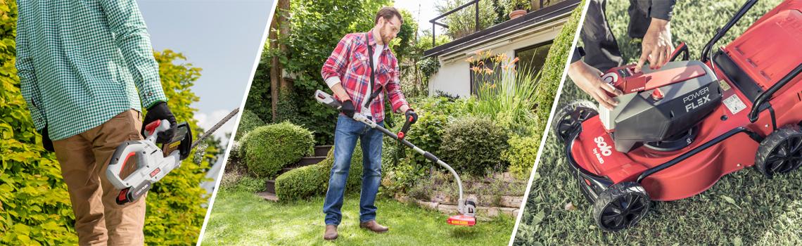 Batteriserier | Batteridrivna trädgårdsmaskiner