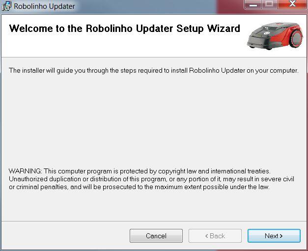 Mähroboter   AL-KO Robolinho® Autoupdater - Schritt 1: Auto-Updater Setup