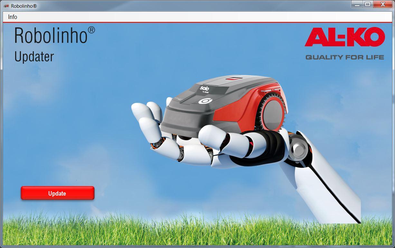Mähroboter   AL-KO Robolinho® Autoupdater - Schritt 11: Robolinho® Auto-Updater aufrufen und auf