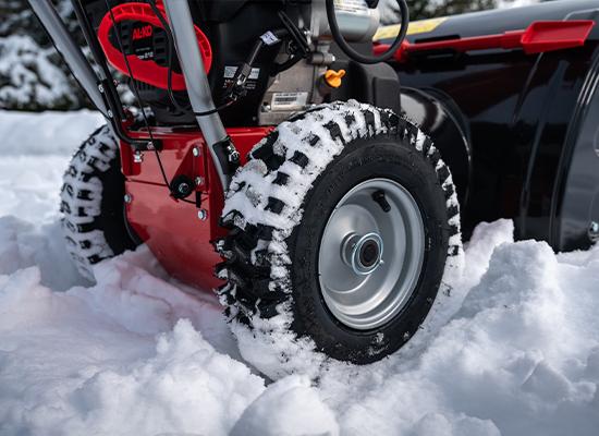 Snöslungor | Snöslungor med grovt mönstrade gummihjul