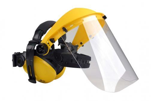 Hörselskydd m/ plexivisir